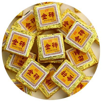 Чай пуэр Чайный лист то ча золотой квадратик шу 5 штук