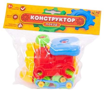 Конструктор пластиковый ABtoys Поезд PT-00490