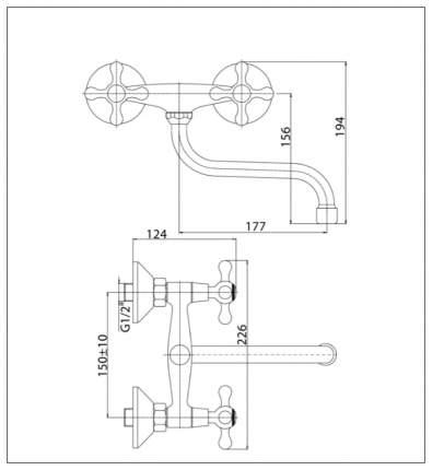 Смеситель для кухни Konner Classic CLS2300