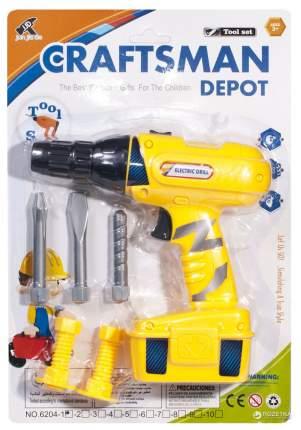 Shantou Gepai Игрушечная дрель craftsman depot с насадками Shantou Gepai 6204-1