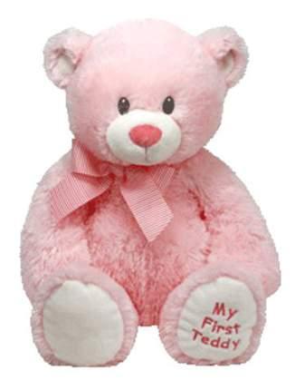 Мягкая игрушка TY Classic Медвежонок My First Teddy (розовый), 20 см