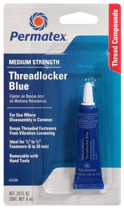 Средство для фиксации винтов Permatex Medium Strenge Threadlocker 6мл 24200
