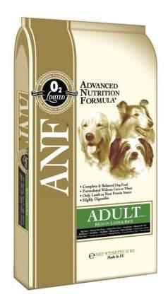 Сухой корм для собак ANF Adult Lamb & Rice, рис, ягненок, 12кг