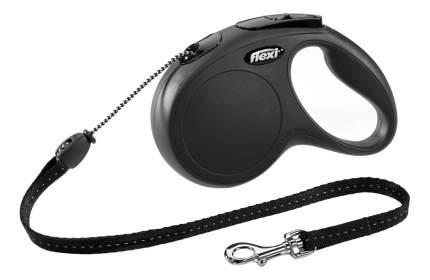 Рулетка-поводок FLEXI Classic Basic М до 20кг трос, 5м, черная