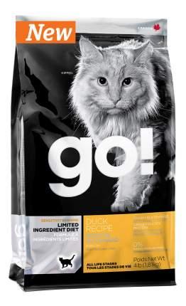 Сухой корм для кошек и котят GO! SENSITIVITY + SHINE, утка, 1,81кг