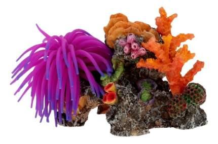 Искусственный коралл Fauna International, разноцветный,  15х10х10,5см