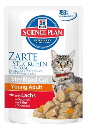 Влажный корм для кошек Hill's Science Plan Sterilised, лосось, 12шт, 85г