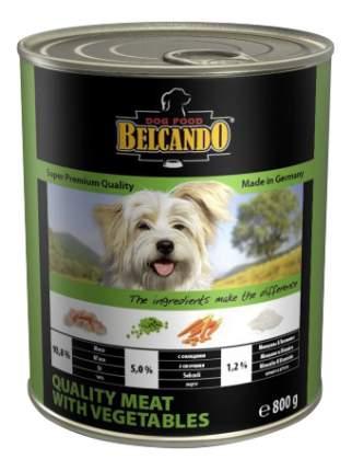Консервы для собак BELCANDO Super Premium, отборное мясо с овощами, 12шт по 800г