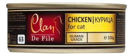 Консервы для кошек Clan De File, курица, 16шт, 100г
