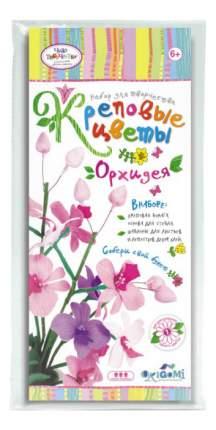 Поделка Оригами Креповые цветы. Орхидея