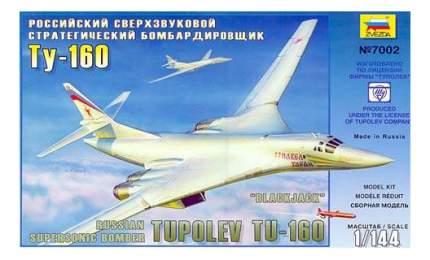 Модель для сборки Zvezda 1:144 Бомбардировщик Ту -160