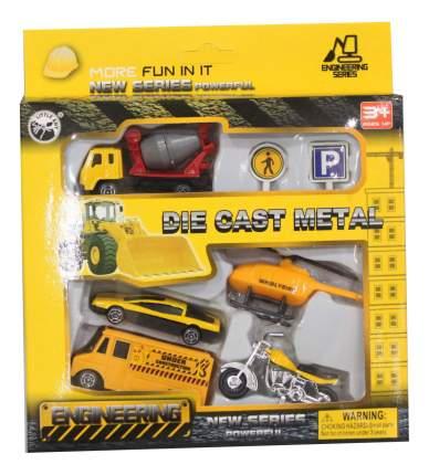 Набор машин строительной техники Little Ant Die Cast Metal BA-11265A из 7 предметов