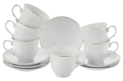 Кофейный сервиз Loraine 26821 Белый, золотистый