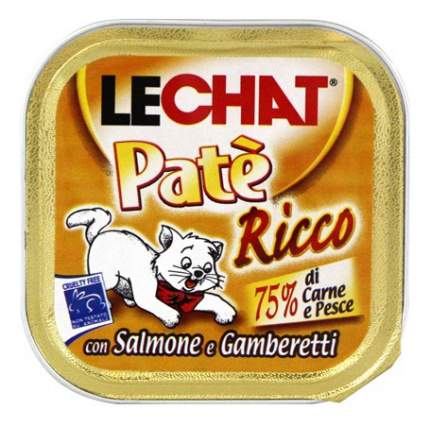 Консервы для кошек Lechat, лосось, креветки, 100г