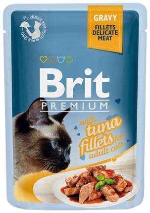 Влажный корм для кошек Brit Premium, рыба, 85г