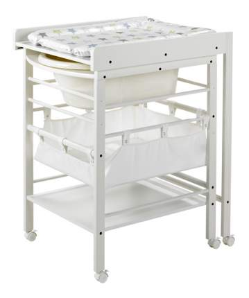 """Стол для пеленания с ванночкой Geuther """"Hanna"""" белый"""