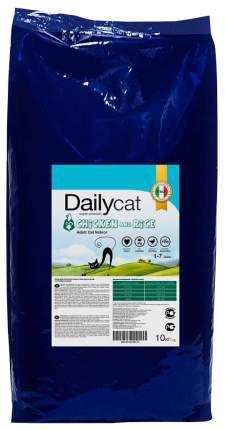 Сухой корм для кошек Dailycat Indoor, для домашних, курица и рис, 10кг
