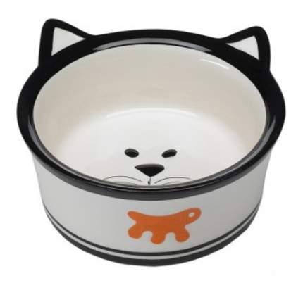 Одинарная миска для кошек Ferplast, керамика, белый, 0.5 л