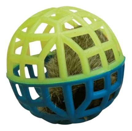 Погремушка для кошек Зооник, искусственный мех, пластик, 5,5 см