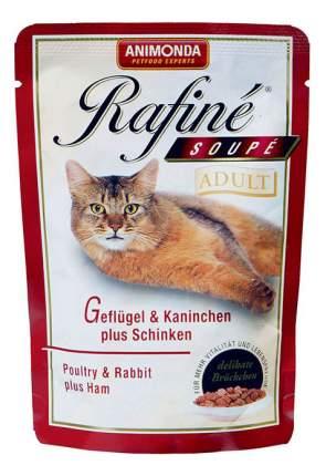 Влажный корм для кошек Animonda Rafine Soupe Adult, домашняя птица, кролик, ветчина, 100г