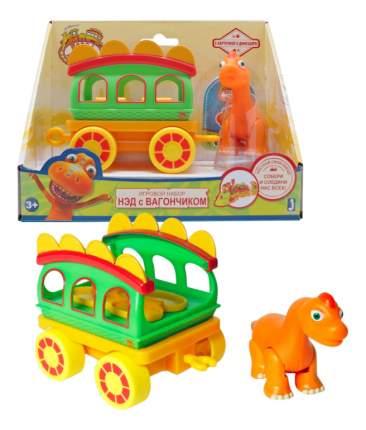 Поездной состав 1Toy Поезд динозавров. Нэд с вагончиком