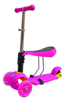 Самокат трехколесный 1 Toy Розовый Т59525 розовый