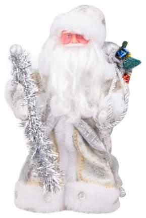 Кукла декоративная Яркий праздник Дед Мороз Серебристый 30 см