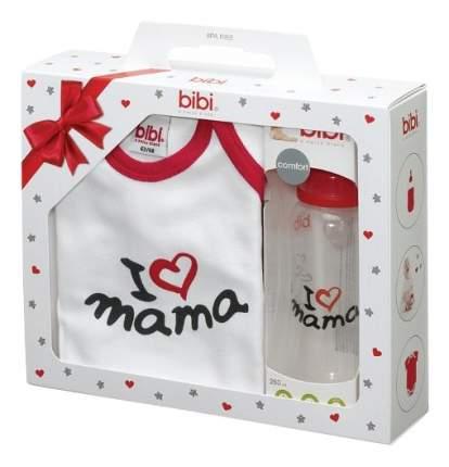 Подарочный набор bibi Боди+ бутылочка I love Mama 250 мл