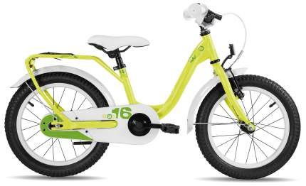 Велосипед Scool niXe 16 steel 2017 One size желтый мальчик