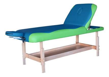 Массажный стол стационарный DFC Superior blue/green