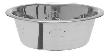 Одинарная миска для кошек и собак DEZZIE, сталь, серебристый, 1.892 л