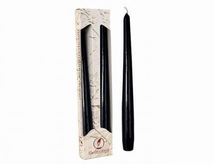 Античные свечи 25 см, 2 шт, черный 001103