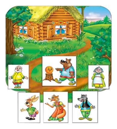 Семейная настольная игра Колобок с кармашками Радуга с-634