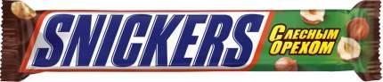Шоколадный батончик Snickers лесной орех 81 г