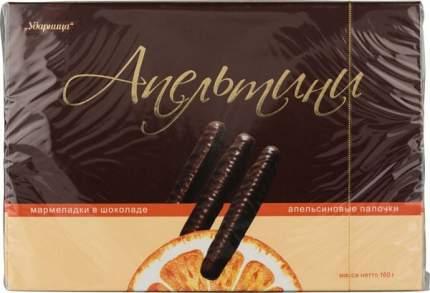 Мармелад в шоколаде апельтини Ударница апельсиновые палочки 160 г