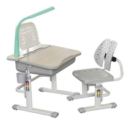 Комплект мебели Mealux арта и стул EVO-03 с лампой клен/серый