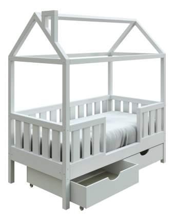 Кровать-домик Трурум KidS Сказка широкий бортик, ящики белая