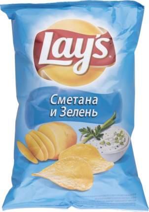 Картофельные чипсы Lay's сметана и зелень 150 г