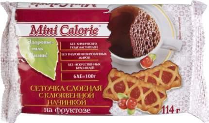 Сеточка слоеная Mini Calorie с клюквенной начинкой на фруктозе 114 г