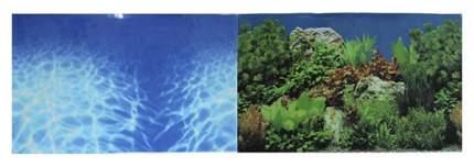 Фон для аквариума Prime Синее море/Растительный пейзаж 50х100см