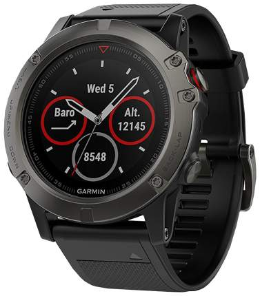 Смарт-часы Garmin Fenix 5X Plus Sapphire черные