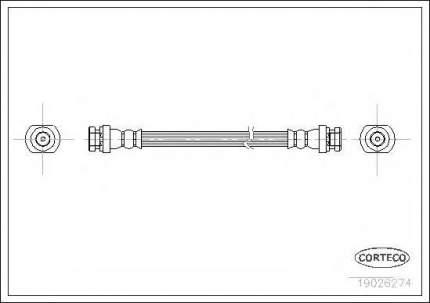 Шланг тормозной системы Corteco 19026274