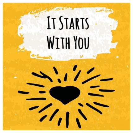 Постер из ткани вертикальный «Это начинается с тебя» JoyArty tp_16002
