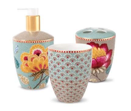 Набор из 3-х аксессуаров для ванной Floral Blue