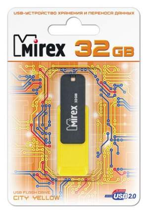 USB-флешка MIREX City 32GB Yellow/Black (13600-FMUCYL32)