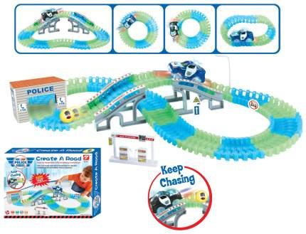 Автотрек Junfa Toys гибкий 123 детали WB-A8870