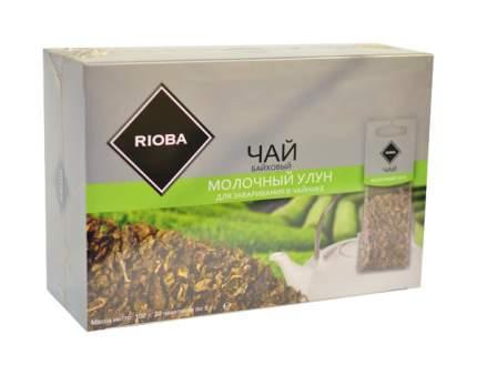 Чай молочный улун Rioba красный байховый крупнолистовой ароматизированный 20 пакетиков