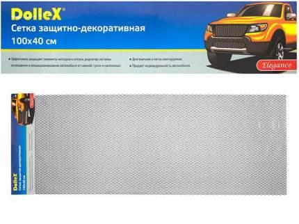 Сетка в бампер автомобиля Dollex 100х40см,Чёрная,Алюминий,ячейки 16х6мм,DKS-017