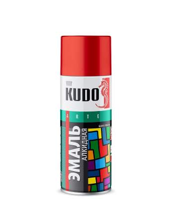Эмаль KUDO универсальная тёмно-красная 520 мл