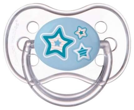 Пустышка Canpol Newborn baby симметричная силикон 6-18 мес. арт. 22/581 цвет голубой